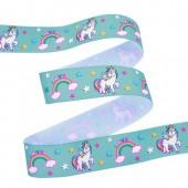 25mm Turquoise Unicorn Ribbon