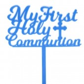 My First Holy Communion Topper - Blue Acrylic