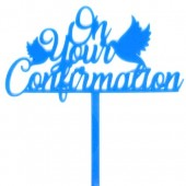 On Your Confirmation Topper - Blue Acrylic