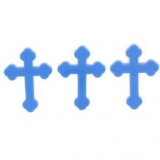 Blue Pretty Cross - Acrylic Pk/6