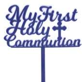 My First Holy Communion Topper - Navy Acrylic