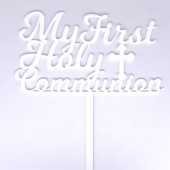 My First Holy Communion Topper - White Acrylic