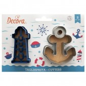 Decora Lighthouse & Anchor Cookie Cutters