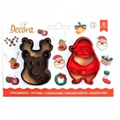Decora Santa Claus & Reindeer Cookie Cutters