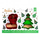 Decora Christmas Tree & Boot Cookie Cutters