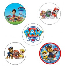 """Paw Patrol Cupcake Toppers - 15 x 2"""""""