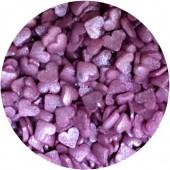 Glimmer Mini Purple Hearts 65g