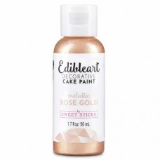 Edible Art Paint - Super Size Metallic Rose Gold 50ml