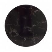 "12"" Masonite Cake Board - Black Marble"
