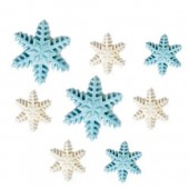 Decora Frozen Star Sugar Decorations Pk/9