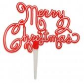 Plastic Nostalgic Script Merry Christmas Motto
