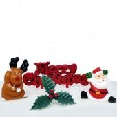 Cheerful Christmas Scene Cake Decorating Kit