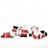 Fun Santa Plastic Cake Topper Picks Pk/5