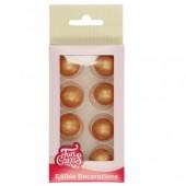 FunCakes Pearl Choco Balls - Gold Set/8