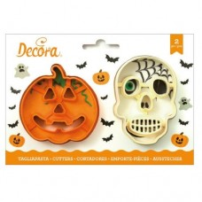 Decora Skull & Pumpkin Cookie Cutters