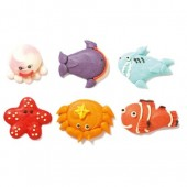 Decora Sea Animals Sugar Decorations Pk/6