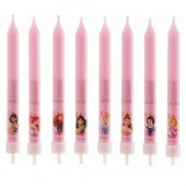 Disney Princess Candles Pk/8