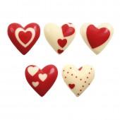 Belgian Chocolate Valentines Hearts Pk/12