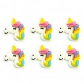 Decora Unicorn Sugar Decorations Pk/6