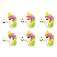 Decora Unicorn Sugar Decorations Pk/6