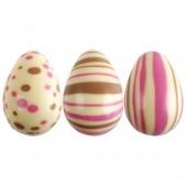 3D Pink & White Belgian Chocolate Eggs Box/64