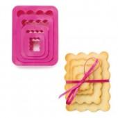 Decora Rectangle Scalloped Cutters Set/4