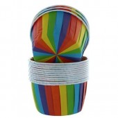 Rainbow Baking Cups Pk/24