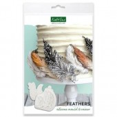 Katy Sue Feathers Silicone Mould and Veiner