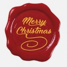 Belgian Chocolate Merry Christmas Stamps Pk/10