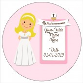 Blonde Haired Communion Girl Edible Topper
