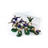 Blue Footballers Cake Decoration Kit Set/9