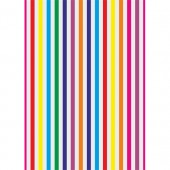 Coloured Stripes Wafer Paper Sheets Pk/3