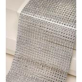 12cm Wide Silver Diamante Ribbon 1yard