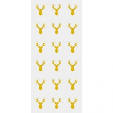 Gold Stags Cello Bags with Twist Ties Pk/20