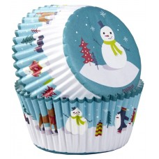 Wilton Snowman & Friends Buncases Pk/75
