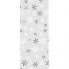 Snowflakes Cello Bags with Twist Ties Pk/20