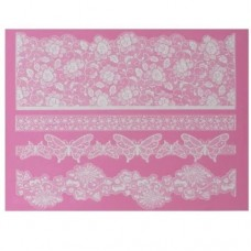 Claire Bowman Madame Butterfly Lace Mat