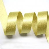 15mm Chamois Gold Sparkle Ribbon