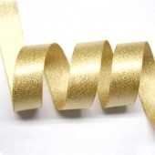 15mm Light Gold Sparkle Ribbon
