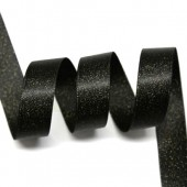 15mm Black Sparkle Ribbon