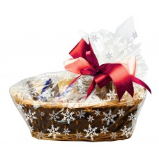 Basket Snowflake Cello Bags with Twist Ties Pk/6