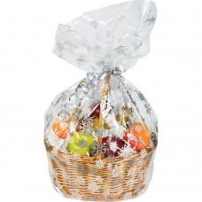 Single Large Cello Snowflake Basket Bag with Twist Tie