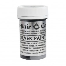 Sugarflair Silver Paint 20g