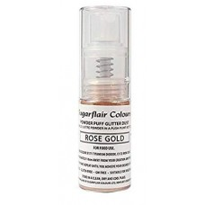Sugarflair Powder Puff Glitter - Rose Gold