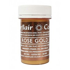 Sugarflair Rose Gold Paint 20g