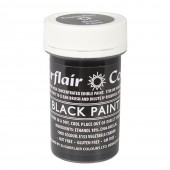 Sugarflair Black Paint 20g