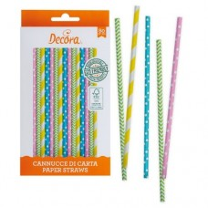 Decora Spring Time Straws Pk/80