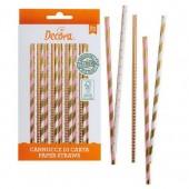Decora Gold, Pink & White Straws Pk/80