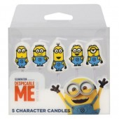 Despicable Me Minions Candles Pk/5