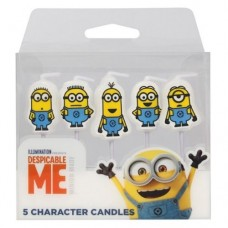 Despicable Me Minions Candles Pk/5